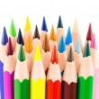 Colourful pencils isolated on a white background — Stock Photo #53054741