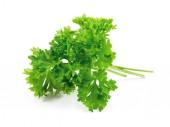 Fresh green parsley on white background — Stock Photo