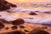 Güzel deniz günbatımı arka plan — Stok fotoğraf