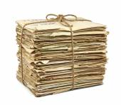 Stack of old letters — Stock Photo