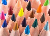 Sfondo colorato con matite — Foto Stock