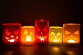 Funny jack-o-lanterns  — Стоковое фото