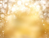 Christmas background with bokeh lights — Stock Photo