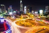 Ho Chi Minh city in evening. Vietnam.  — Stock Photo