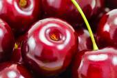 Sweet red cherries as background, macro shot — Stock Photo