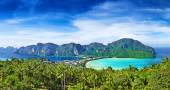 Panorama of Phi-Phi island, Krabi Province, Thailand — Stock Photo