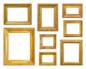 Set of golden vintage frame — Stock Photo