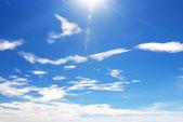 Blue sky with cloud closeup — Stock Photo