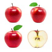 Set of red apples — Stock Photo