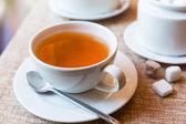 Fincan çay ve çay potu — Stok fotoğraf
