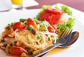 Papaya salad — Stock Photo