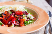 Salad with tomatoes, onions, cucumbers  — Stock Photo