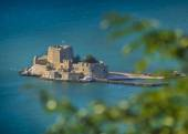 Bourtzi fortress from Nafplion, Greece — Stock Photo