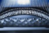 Teclas de máquina de escribir antigua y tipo — Foto de Stock