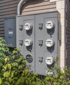 Electricity usage meters — Stock Photo
