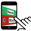 Needs Wants Folders Displays Requirement And Desire — Stock Photo #53003025
