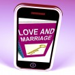 Love and Marriage Phone Represents Keys and Advice for Couples — Stock Photo #53004021