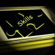 Skills Smartphone Displays Knowledge Abilities And Competency — Stock Photo #53004283