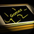 Games Smartphone Displays Internet Gaming And Entertainment — Stock Photo #53004823
