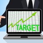 Target Chart Graph Displays Hit Or Hitting Targets — Stock Photo #53004955