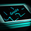 Goals Smartphone Displays Aims Objectives And Targets — Stock Photo #53005019