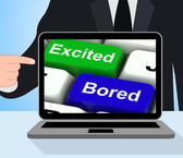 Excited Bored Keys Displays Exciting And Boring Websites — Stock Photo