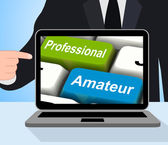 Professional Amateur Keys Displays Beginner And Experienced — Stock Photo