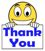 Thank You On Sign Shows Gratitude Texts And Appreciation — Stockfoto