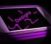 Designs Smartphone Displays Design And Layout On Internet — Stock Photo