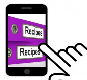 Recipes Folders Displays Meals And Cooking Instructions — Stock Photo