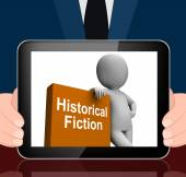 Historical Fiction Book And Character Displays Books From Histor — Stock Photo
