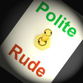 Polite Rude Switch Shows Manners And Disrespect — Stock Photo