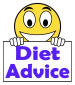 Diet Advice On Sign Shows Weightloss Knowledge — Stock Photo