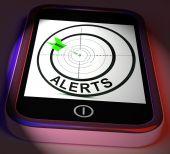 Alerts Smartphone Displays Phone Reminder Or Alarm — Stock Photo