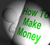 How To Make Money Sign Displays Riches And Wealth — Stock Photo