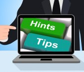 Hints Tips Computer Mean Guidance And Advice — Stock Photo