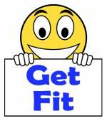 Fit op teken shows uit te werken of fitness — Stockfoto