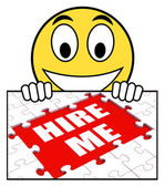 Hire Me Sign Means Job Candidate Or Freelancer — Stock fotografie