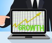 Growth Graph Chart Displays Increase Sales Profit — Stock Photo