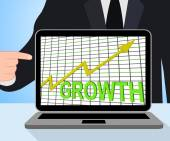 Growth Graph Chart Displays Increase Sales Profit — Stock Photo