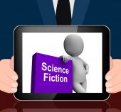 Science Fiction Book And Character Displays SciFi Books — Stock Photo