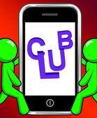 Club On Phone Displays Group Team League Association — Stock Photo