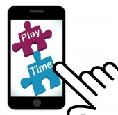 Play Time Puzzle Displays Fun And Leisure For Children — Foto de Stock