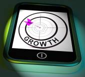 Growth Smartphone Displays Expansion  And Advancement Through In — 图库照片