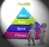 Health Symbol Shows Fitness Strength And Wellbeing — Stock Photo