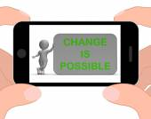 Change Is Possible Phone Means Rethink And Revise — Stock Photo