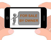 For Sale By Owner Phone Means Property Or Item Listing — Stock Photo