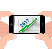 Graph 2017 Displays Future Earnings And Profits — Foto de Stock