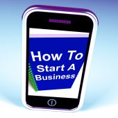 How to Start a Business Phone Shows Starting Strategy — Stock Photo
