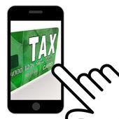 Tax On Credit Debit Card Displays Taxes Return IRS — Foto Stock